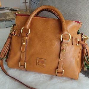 Dooney & Bourke Florentine tan leather satchel bag